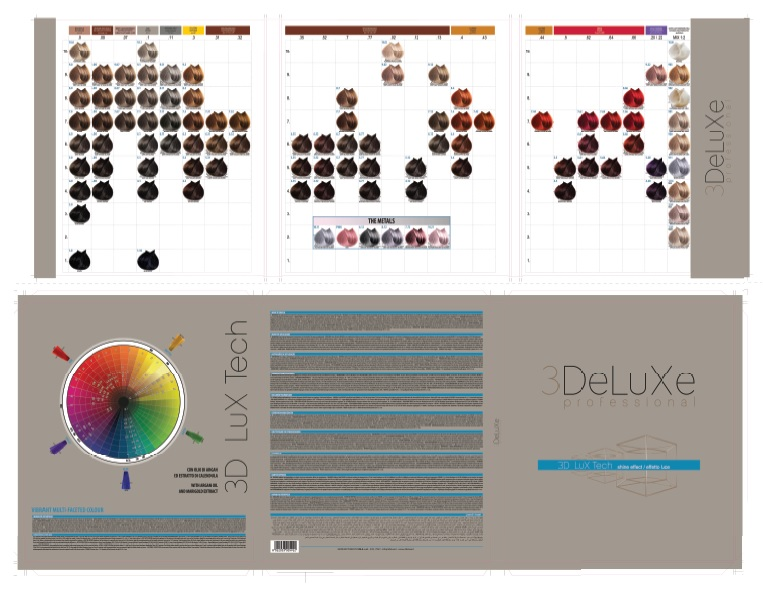 3DeLuXe Color chart